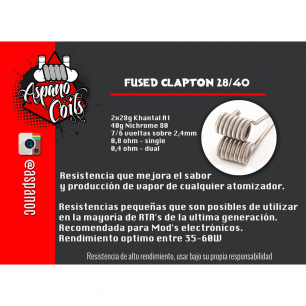 Fused Clapton 28/40 - Aspano Coils