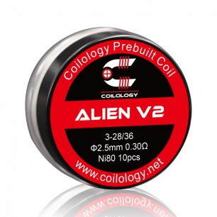 Handcrafted coils Alien Boîte de 10 coils COILOLOGY
